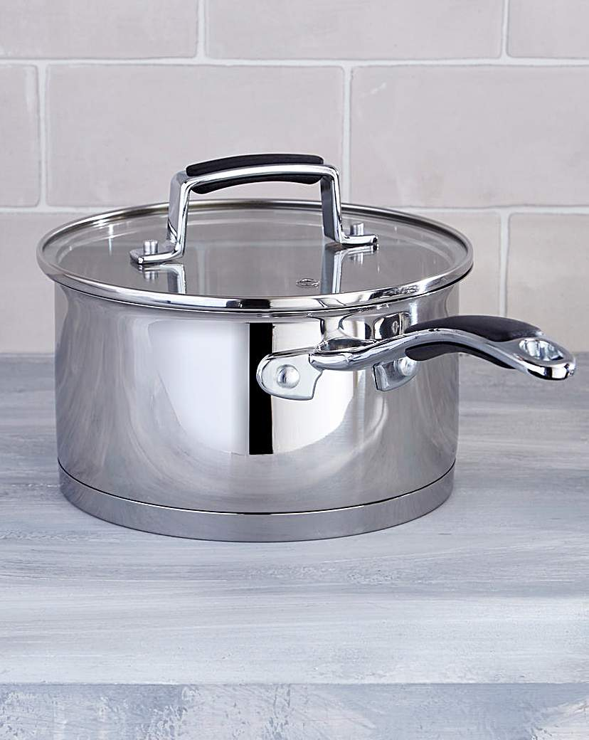 Bistro Stainless Steel 18cm Saucepan