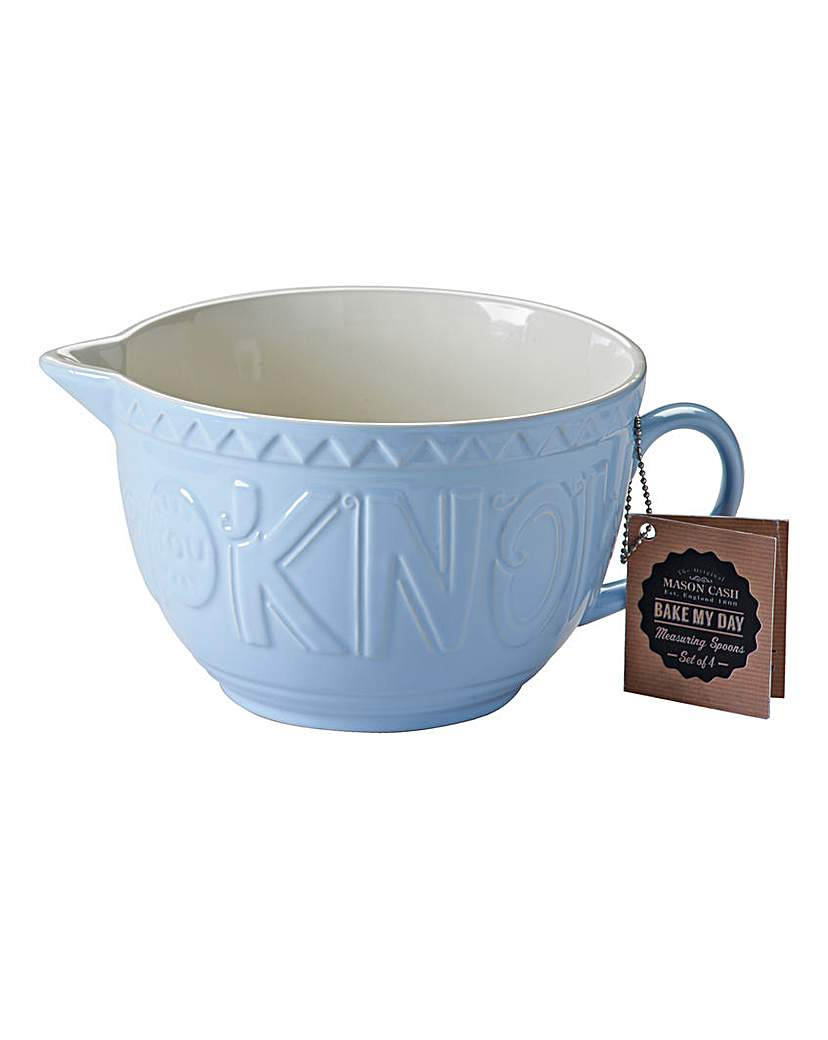 Mason Cash Bake My Day Batter Bowl Blue