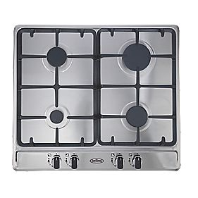 Belling GHU60CG STA Gas Hob Stainless Steel 500 x 580mm (2002F)