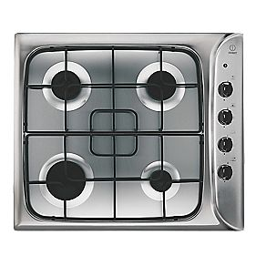 Indesit Gas Hob Stainless Steel 510 x 580mm (69877)