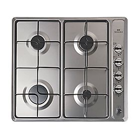 New World NWGHU601 Gas Hob Stainless Steel 510 x 580mm (6001P)