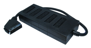 0.5m 5 Way SCART Splitter Box 0.5m