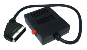 0.5m 2 Way Switched Scart Splitter
