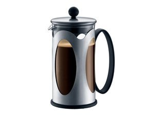 Bodum 10701-16 Kenya 8 Cup French Press Coffee Maker, Stainless Steel, 34-Ounce