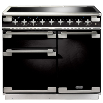 Rangemaster 100160 100cm ELISE Induction Electric Range Cooker In Blac