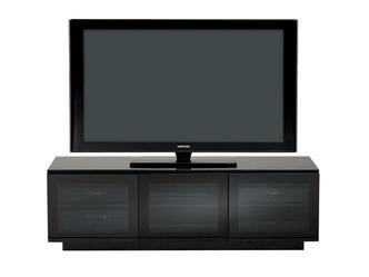 BDI 8227 2 Mirage BDI TV Cabinet with Black Glass Grey Glass