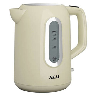 Akai A10001C Cordless Kettle in Cream 1 7 Litre 2200W