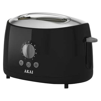 Akai A20001B 2 Slice Cool Touch Toaster in Black