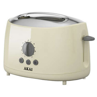 Akai A20001C 2 Slice Cool Touch Toaster in Cream