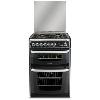 Cannon CH60DHKFS 60cm HARROGATE Dual Fuel Cooker in Black Double Oven