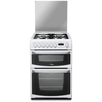 Cannon CH60DHWFS 60cm HARROGATE Dual Fuel Cooker in White Double Oven