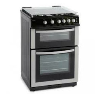 Royale RY60TGS 60cm Twin Cavity Gas Cooker in Silver Glass Lid